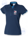 Women's 2colour superior fitted polo- WRNS RN LOGO